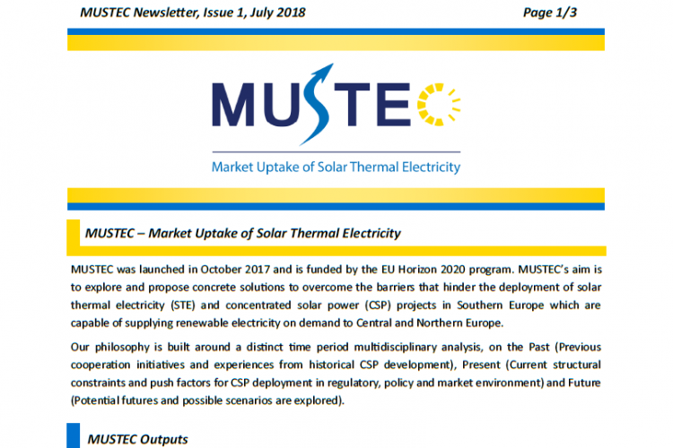 MUSTEC Newsletter, issue 1, July 2018