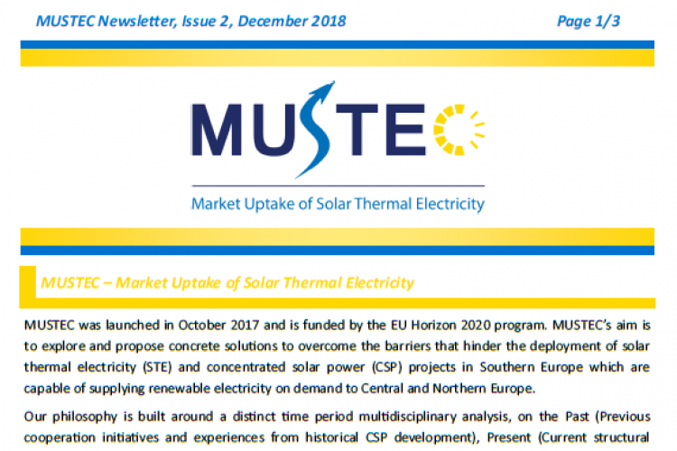MUSTEC Newsletter, Issue 2, December 2018