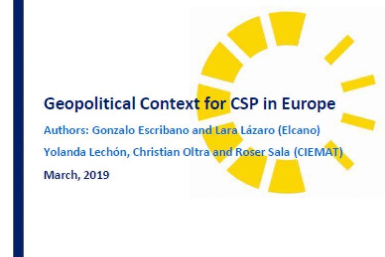 Geopolitical Context for CSP in Europe
