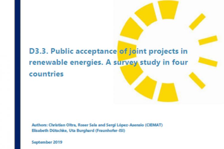 Report: Public acceptance of joint projects in renewable energies. A survey study in four countries
