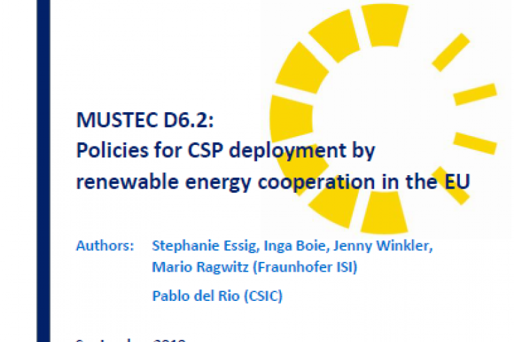 Report: Policies for CSP deployment by renewable energy cooperation in the EU