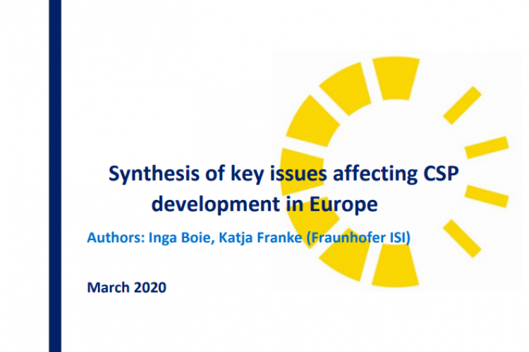 SYNTHESIS OF KEY ISSUES AFFECTING CSP DEVELOPMENT IN EUROPE