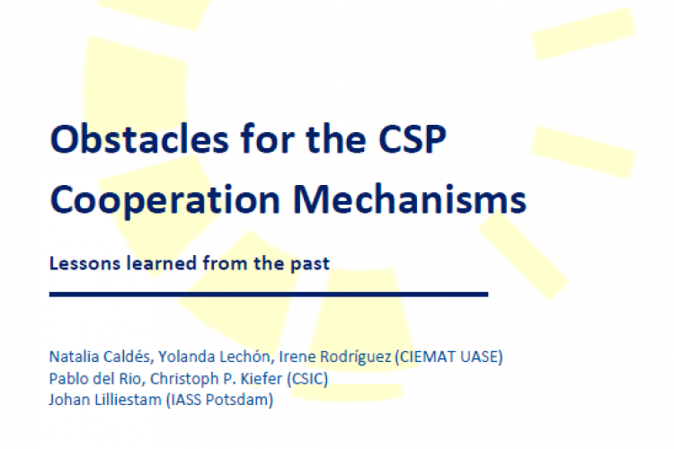 REPORT:  OBSTACLES FOR THE CSP COOPERATION MECHANISMS