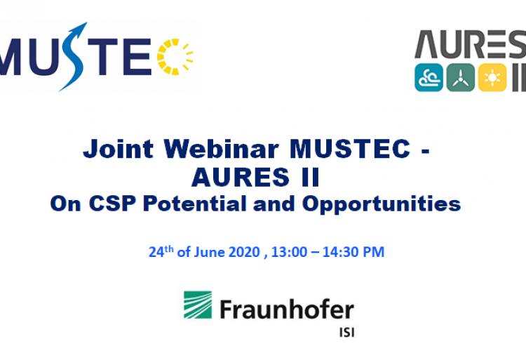 MUSTEC WEBINAR ON CSP POTENTIAL AND OPPORTUNITIES
