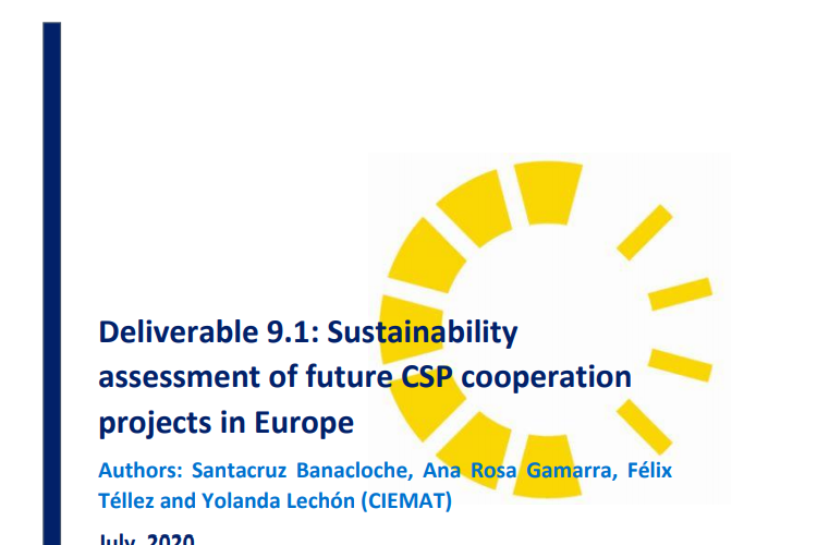 REPORT: SUSTAINABILITY ASSESSMENT OF FUTURE CSP COOPERATION PROJECTS IN EUROPE